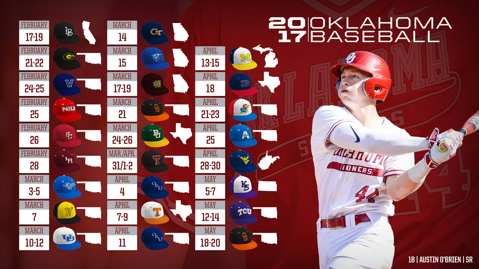 2017 Baseball Schedule Central University Of Oklahoma