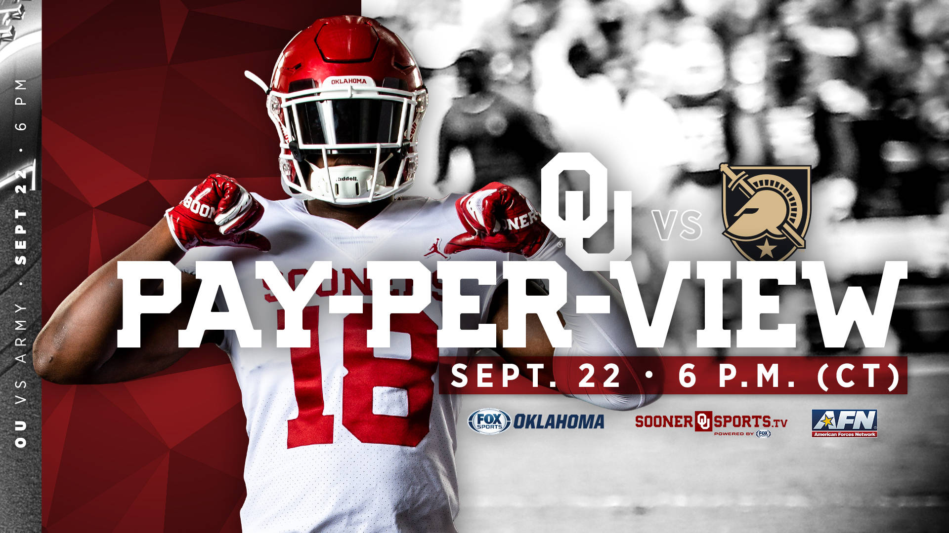 new arrival 7ba11 47ab5 How to Watch OU-Army on Pay-Per-View - University of Oklahoma