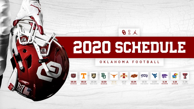 Ou S 2020 Football Schedule Announced University Of Oklahoma