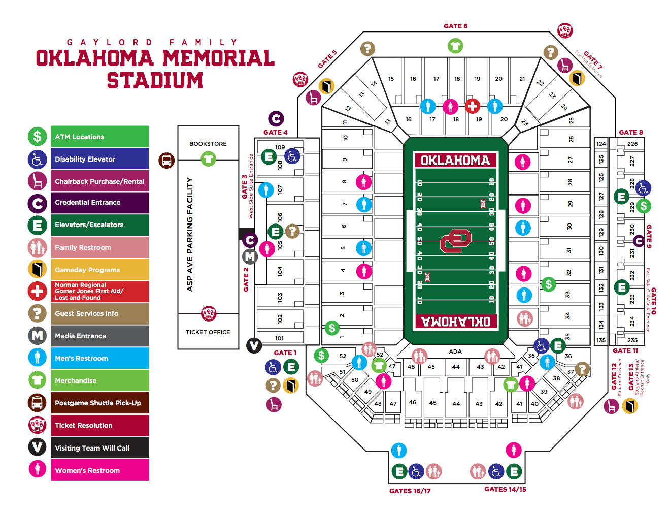 Ou Football Stadium Detailed Seating Chart