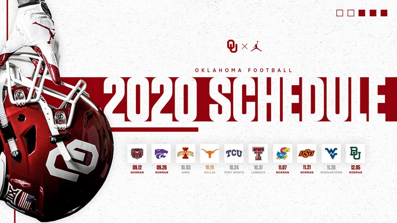 Big 12 Announces Revised 2020 Football Schedule University Of Oklahoma